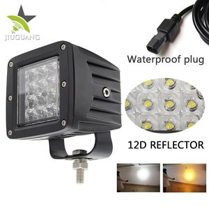 Strobe Super bright Square 3 inch 36w 4D Led Work Light for Truck