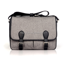 Easy to carry 15 inch fabric laptop messenger bag