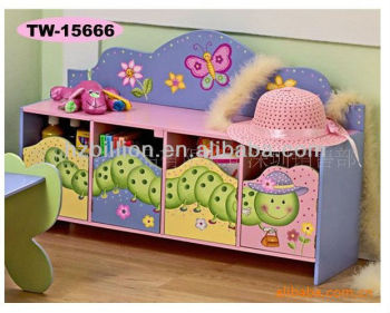 Nice Wooden children 4-doors storage cabinet
