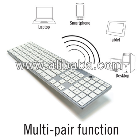 Multi-host Switchable Full Size Bluetooth Keyboard