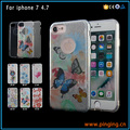 Hot selling cell phone accessory for iphone 7 glitter powder color printing 3 in 1 phone case