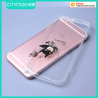 city&case clear ultra thin gel case for iPhone6 6s waterproof