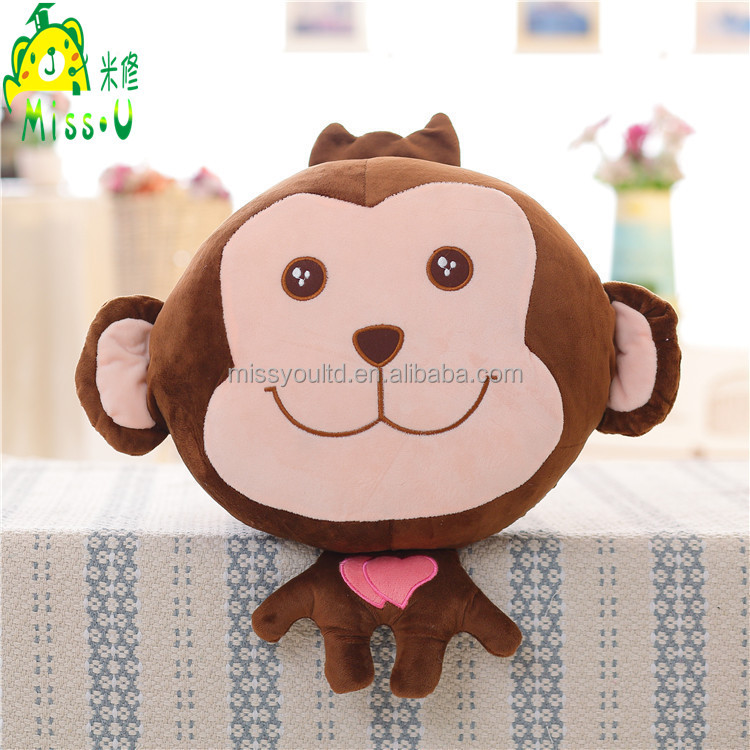 Wholesale Different Shapes Soft Animal Monkey Plush Blanket For Kids