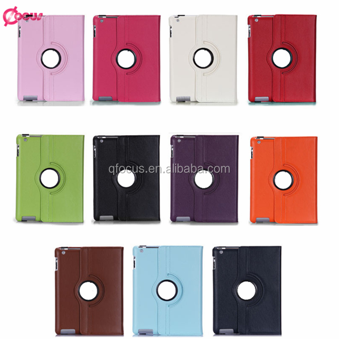 2016 Luxury Top Quality 360 Degree Rotatable Smart Case for iPad Air 2 PU Leather Tablet Case for iPad 6