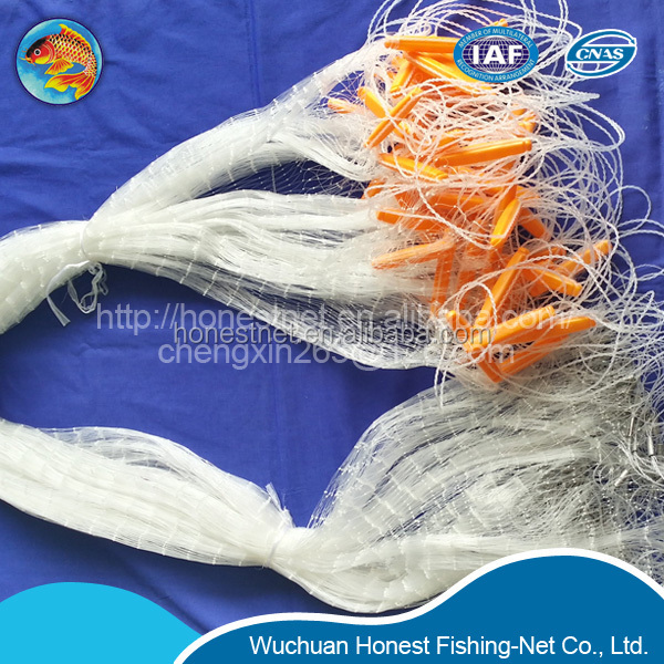 nylon monofilament gill net fishing nets double knots