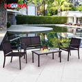 4pcs Hot Sell Outdoor Hotel Garden Brown Iron KD Sofa Set