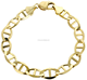 China factory supply Solid Mens Mariner Bracelet 18K Yellow Gold bracelet