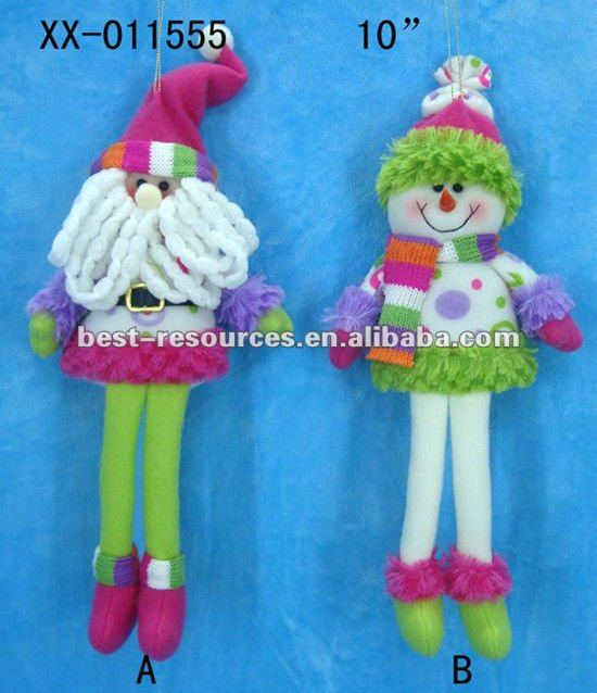 10 inch hanging christmas plush toys/handcrafted christmas gift