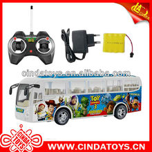 Bus car with light 2014 new design bus car remote controlled bus
