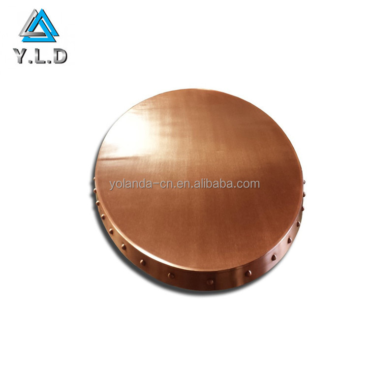 China One-stop Sheet Metal Fabrication Factory Customize Polishing Copper Table Shield For Meeting Room