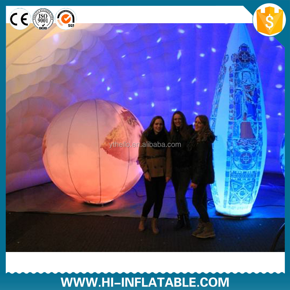Personalized led light inside inflatable light pillar for pary <strong>decoration</strong>