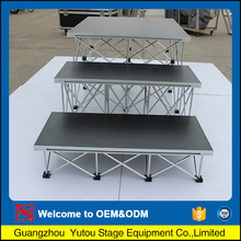 High Polished high grade designer portable stages for schools