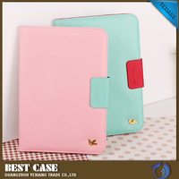 2016 Yexiang new coming wallet design flip leather case for iPad mini korea style