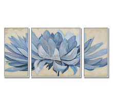 Modern Flower Decor Canvas Art Painting 3 Piece Panel