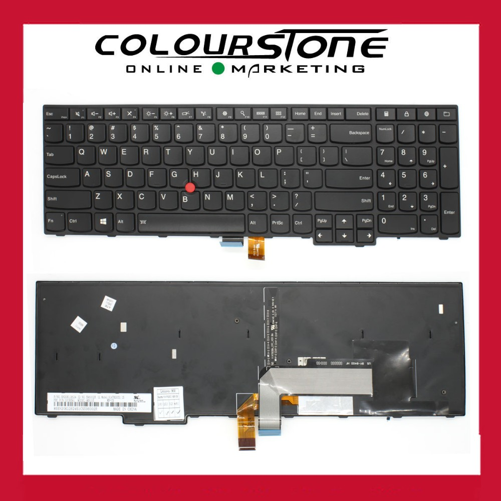 100% Brand NEW US laptop Keyboard for Lenovo Thinkpad E550 E550C E555US BLACK with frame and finger point stick