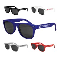 promotional UV 400 Neon pinhole sunglasses with customized logo made in China
