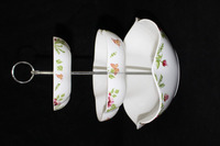 Wholesale 3 tiers cake stand fine porcelain ceramic fruit plate stand