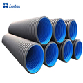 Hot sales DN500mm hdpe double wall corrugated pipe for drainage and sewage