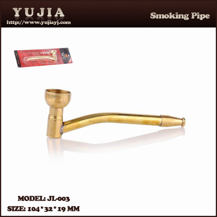 Guangzhou YuJia tobacco mini high quality brass smoking pipe for sale factory JL-003