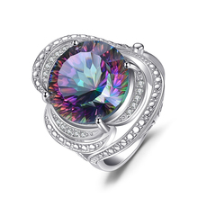 JewelryPalace Mystic Quartz Ring 925 Sterling Silver Ring