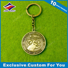 Mid East advertising round metal keychain 3d custom shaped keychain