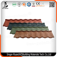 50 Years Warranty Roof Sheets, Aluminium Colorful Stone Coated Metal Roofing Tiles