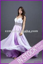 2012 new arrival beaded sweetheart strap long prom dress