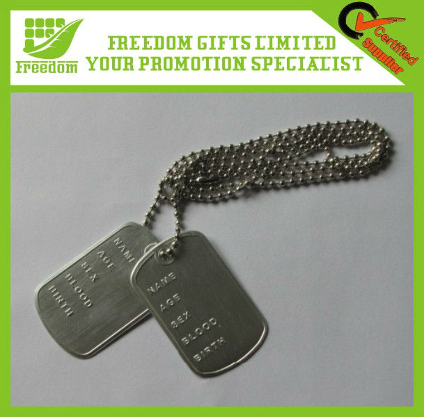 Logo OEM Promotional Dog Tag Chain