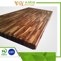 Real wood kitchen worktops china acacia asian walnut butcher block tops