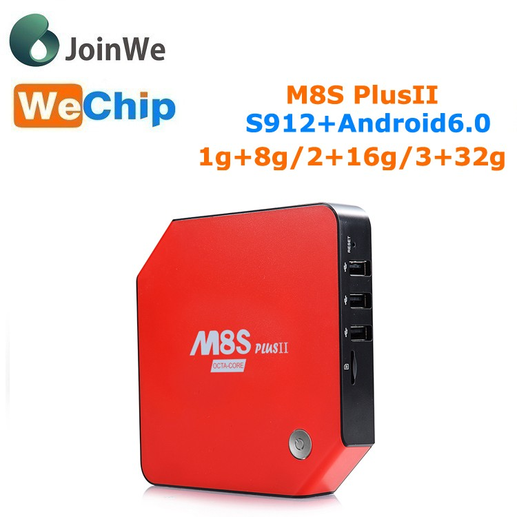 M8S PLUS II Android 6.0 TV Box 1g/8g 2g/16g 3g/32g Amlogic S912 android tv box M8S PlusII