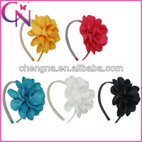 baby hair band hair flower with rubber band for baby hair accessories CNHBW-1308082