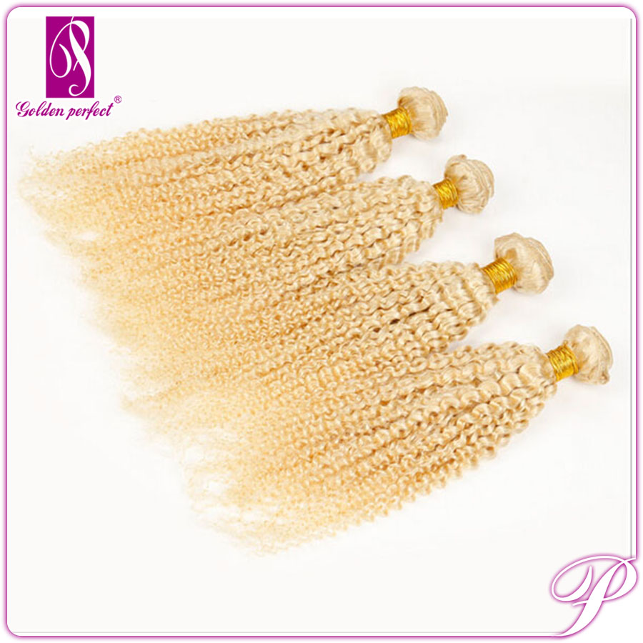 Wholesale Brazilian Kinky Curly Remy Brown/Blonde Mixed Human Hair Extensions