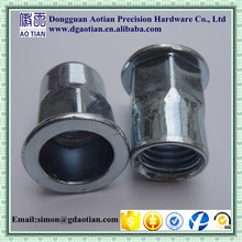 Dongguan AoTian best sale high quality Stainless Steel Flat Head Semi-Hex Body