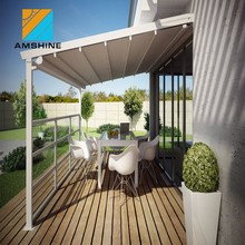 Aluminium modern design waterproof shade retractable folding arm awning