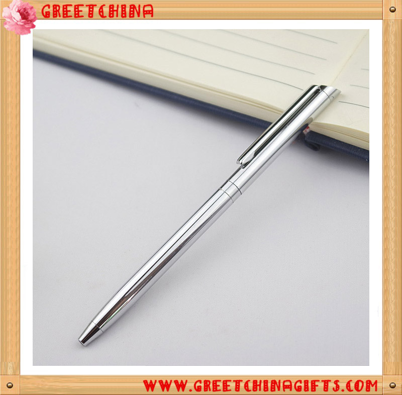 Top Grade Business Custom Hotel Copper Pen Holder Chromium Plated Advertising Pen