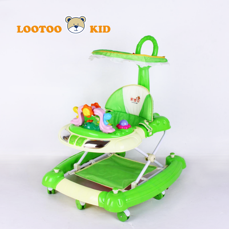 Alibaba Wholesale lovely music 2016 top selling baby walker for baby and mother with handle bar baby push wagon