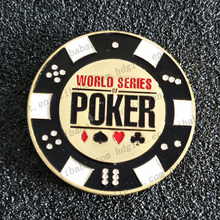 World Series Poker Euro Enamel Coin Custom Brass Tokens