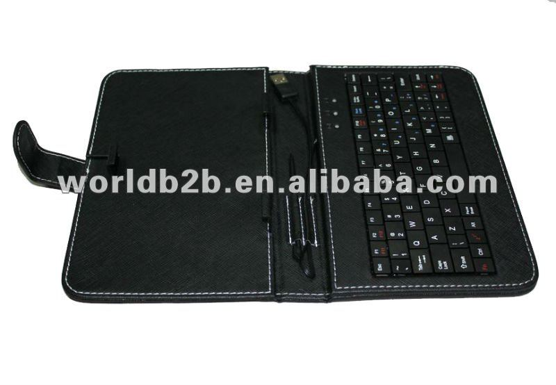 7 inch Universal Keyboard Leather Case for 7inch MID,Tablet PC with Stand