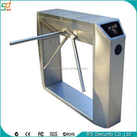 Pedestrian access arm locked subway turnstile barrier