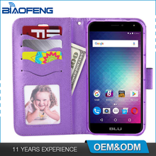 Guangzhou Factory Wholesale Cover Wallet Flip Tpu Pu Magnetic Leather Waterproof Phone Case For Blu Life Max