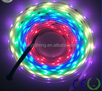 5050 rgb dream color 6803 ic led strip light with power supply and 133 prigam RF controller
