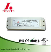 UL listed 48w 0-10v/1-10v 10v pwm (3 in 1) dimmable driver