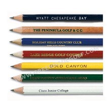 "3.5"" custom printed HB golf pencils in bulk"