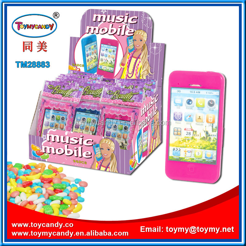 China toy candy manufacturer new design child faviate plastic toy mobile phone candy toys good selling for supermerket