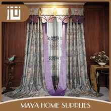 Wholesale customized commercial elegant decorative house curtains ready made