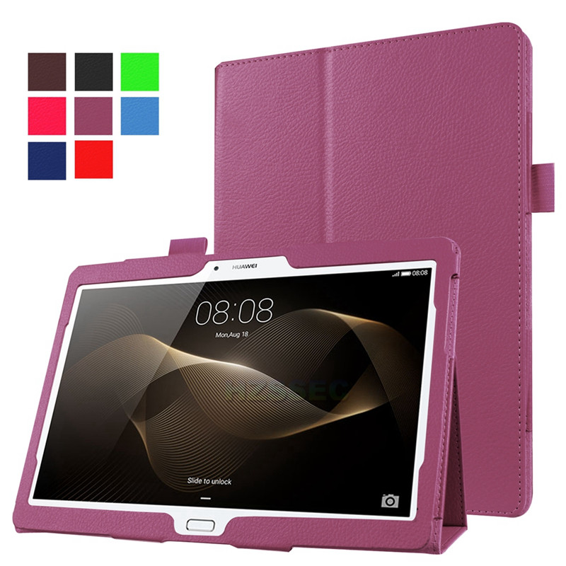 Universal tablet case 10 inch stand PU leather cover for Huawei M2