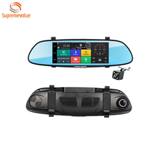 7 Inch Dual Lens Touch Screen Android GPS Car Camera 1080P GPS Navigation 1GB RAM 16GB ROM Mirror Car Dvr With 3G Function
