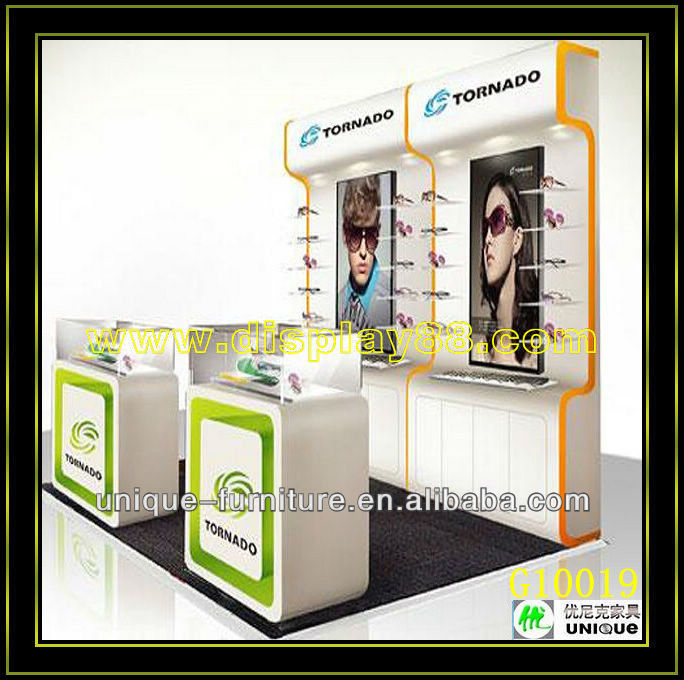 Sunglass shop decoration glass acrylic display furniture design