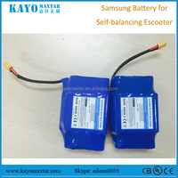 Chinease manufacture UL certificated 36V 4.4Ah lithium batteries for self balancing escooter