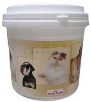5kg Cylinder Shape Plastic PET Cat Food Container with Wheel